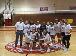 Girls Varsity Volleyball Team wins back to back district championships
