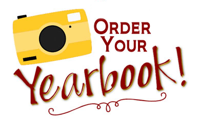 """A yellow camera with the words """"Yearbook!"""""""